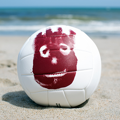 "WILSON<sup>&reg;</sup> Cast Away™ Volley Ball - Official Wilson<sup>&reg;</sup> AVP™ game ball featuring ""Wilson"", from the movie Cast Away™, printed on one side.  Machine-sewn, synthetic leather material cover."